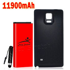 New Samsung Galaxy Note 4 11900mah High Capacity Extended Battery + Black Cover