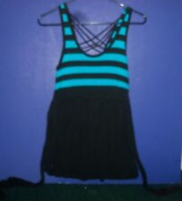 Women's One Piece Mini Dress - Black & Blue - sz Medium - Rue 21