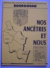 nos ancêtres et nous Bourgogne - N° 46 - 2ème trimestre 1990 - généalogie