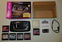 Sega Game Gear GameGear Console & Games Complete In Box CIB
