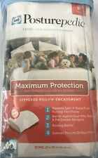 Sealy Posturepedic Maximum Zippered Pillow Protector White Size King