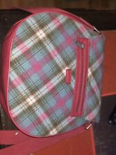 Ness Handbag Wool Pink Check Ladies Bag