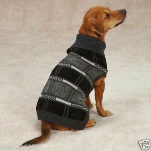 New EASTSIDE COLLECTION CHESTERFIELD DOG SWEATER gray winter small S