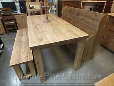 RECLAIMED SAWN 6' X 3' CHUNKY TABLE BESPOKE SIZES & COLOURS RUSTIC