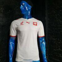 Poland Jersey Home football shirt 2007 - 2009 Puma Trikot White Mens Size M