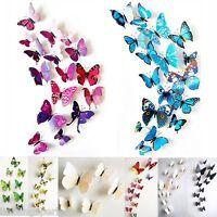 LP 3D Schmetterlinge 12er Set Wanddekoration Wandtattoo Wandsticker M7345