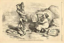 Th. Nast, Political Cartoon, Where There Is Evil, There Is A Remedy, Antq Print