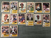 1981 HOUSTON ASTROS Fleer Baseball Card Team Lot 14 Cards+ 3 Ex. RICHARD NIEKRO!