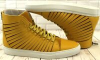 Cipher Radial Pumpkin Yellow Men's Leather High Top Trainers Sneakers