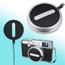 Fujifilm X100T X100S X100 Leather Lens Cap Keeper Strap Self Adhesive Black JJC