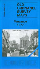 OLD ORDNANCE SURVEY MAP PENZANCE 1877 COLOURED EDITION
