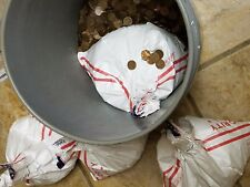 4 Bags=$100 FV 10,000 Circulated 95% Copper Pennies. 68 LBS Bulk Metal 1959-1982