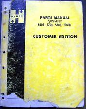 Hyster SpaceSaver S60B-S70B-S80B-S100B Forklift Lift Truck Dealer Parts Catalog