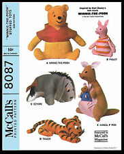 DISNEY Stuffed Animal Fabric Pattern McCall's 8087 Toy POOH TIGGER PIGLET EEYORE