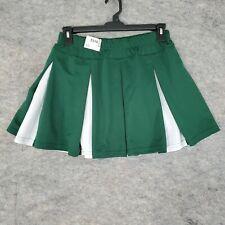 Augusta Cheer Skirt Womens Extra Large Cheerleading Uniform Pleated Green White