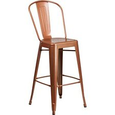 Flash Furniture 30 inch High, Metal Indoor-Outdoor Barstool in Copper Finish New