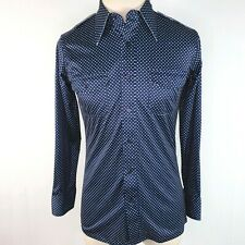 Vintage 70s Disco Mod Cosplay Slim Mens Small Shirt California Class Funky Pop