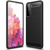 Silikonschutz Hülle Bumper Schutz Carbon für Samsung Galaxy S21 Ultra (G998B)