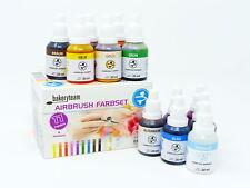 Airbrush Lebensmittelfarbe Set 12 x 20ml 11 Farben+ Reiniger