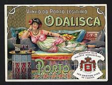 ODALISQUE PORT WINE Vintage Litho label. Rotulo Vinho do Porto ODALISCA Portugal
