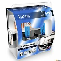 2x H7 Genuine Lunex Platinum White 12V 477 Halogen Headlight Bulbs PX26d 4000K
