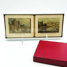 "New listing Harrods of London Coasters Landmark Pictures Set of 6 Original Box Sealed 4.5"" W"