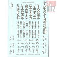 Necron Transfer Sheet #99 51 01 10 001 (2001) Games Workshop Warhammer 40,000