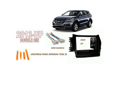Fits HYUNDAI SANTA FE 2013-UP Car Stereo Double DIN Dash Kit, Wire Harness