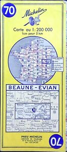Antigua Postal de Carreteras Michelin Coleccionista - 200 000é - Beaune-Evian 70