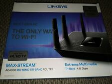 Linksys Max Stream 4K streaming router - EA9300 TRIBAND - NEW OPEN BOX
