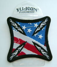 """IRON CROSS US United States FLAG PATCH  3 1/2"""" Square"""