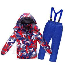 Girls Boys Snowsuit Set Waterproof Children Adult Warm Ski Suit Jacket Pants Set