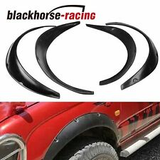 """4Pcs 2""""/50mm Universal Fender Flares Wide Body Kit Wheel Arches Durable PU"""