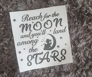 Reach for the moon Decal vinyl sticker Ikea Ribba Box Frame DIY Gift