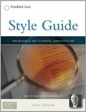 Style Guide: For Business and Technical Communication by Covey, Stephen R. Book