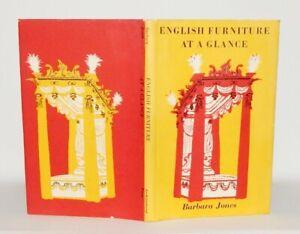 1954 Barbara Jones ENGLISH FURNITURE AT A GLANCE 1st Edn ILLUSTRATED