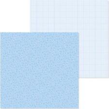 Doodlebug: 12x12 Petite Prints: Floral/Graph: Bubble Blue 2pc Scrapbook Paper