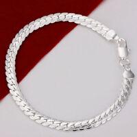 ASAMO Damen Herren Armband 925 Sterling Silber plattiert Schmuck A1199