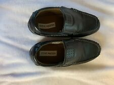 Steve Madden boys shoes, slip on, black, size 3, excellent condition, Casual