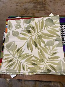NWT Pottery Barn Pillow Covers Overlapping Leaves