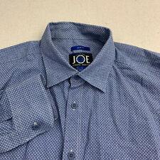 Joe Joseph Abboud Slim Fit Button Up Shirt Mens Large Blue Long Sleeve Casual