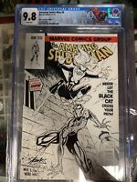 Amazing Spider-Man #8 (2014 )CGC 9.8  MINT  J. SCOTT CAMPBELL Sketch Variant