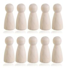 10pcs DIY Plain Blank Wooden Peg Dolls Bride Figures Wedding Cake Toppers