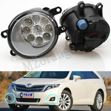 Pair 9 LED Fog Light Front Lamp For TOYOTA Venza 2009-2015 Replacement Driving