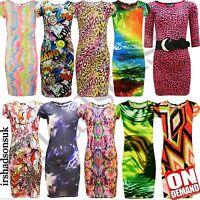 Girls Printed Comic Bodycon Midi Stylish Dresses 2 3 4 5 6 7 8 9 10 11 12 13 Yr