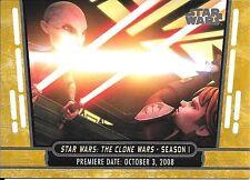 2017 Topps Star Wars 40th Anniversary Gold #10 The Clone Wars Season 1 #16/40