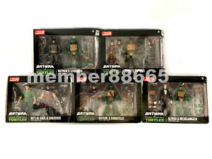 New TMNT vs Batman Teenage Mutant Ninja Turtles GameStop Exclusive Set Leonardo