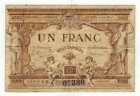 1915 France 1 Franc Ville D'Angers