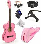 """30"""" Wood Classical Guitar with Case and Accessories for Kids/Girls/Boys/Beginner"""