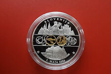 Münze/Medalie* Euro Währung 2002 ca.40mm Versilbert PP * Slowenien (KAS 1)